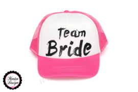 Truckercap team bride