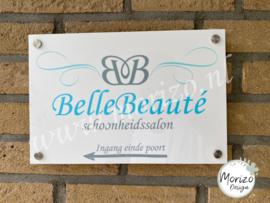 bedrijfsnaambordje Belle Beauté