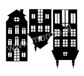 3 Huisjes raamdecoratie uitbreidingsset