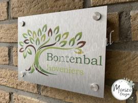 bedrijfsnaambordje Bontenbal hoveniers