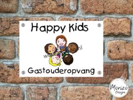 bedrijfsnaambordje Happy kids