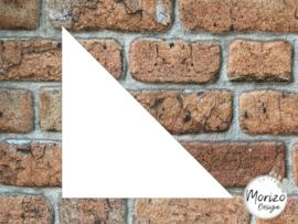 Plexiglas wit driehoek 20x20cm