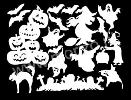 Halloween raamdecoratie uitbreidingsset