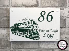 Naambordje met Locomotief