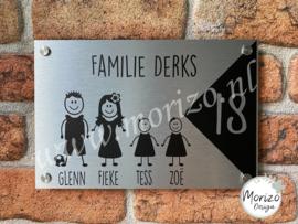 Naambordje stick family