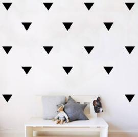 Muursticker vormen driehoek
