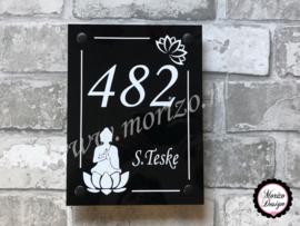 Naambord met Buddha