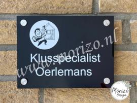 bedrijfsnaambordje Klusspecialist Oerlemans