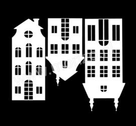 Huisjes raamdecoratie uitbreidingsset
