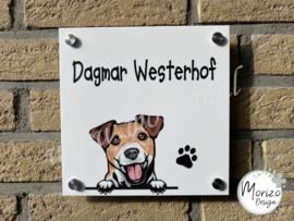 Stel uw eigen naambordje met hond samen enkel