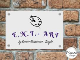 bedrijfsnaambordje E.N.T. ART