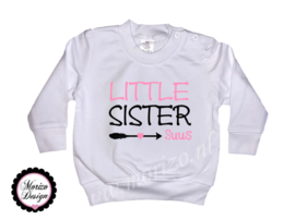 Sweater Little sister pijl *naam*