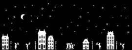 Sinterklaas, herfst, halloween, kerst figuurtjes raamdecoratie huisjes wit