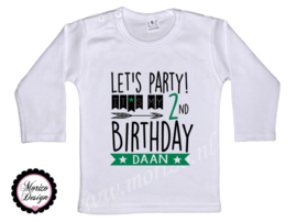 Let's party! It's my *cijfer* birthday jongen