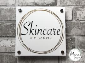 bedrijfsnaambordje Skincare