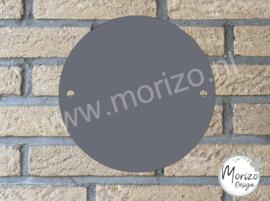 Plexiglas grijs cirkel rond 20x20cm