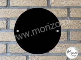 Plexiglas zwart cirkel rond 20x20cm