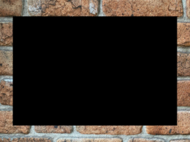 Plexiglas mat zwart 20x30cm