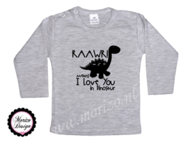 Shirt - Rawr means I love you in dinosaur 2