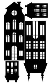 4 Huisjes raamdecoratie uitbreidingsset