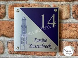 Naambordje Dom toren Utrecht