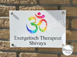 bedrijfsnaambordje Energetisch Therapeut