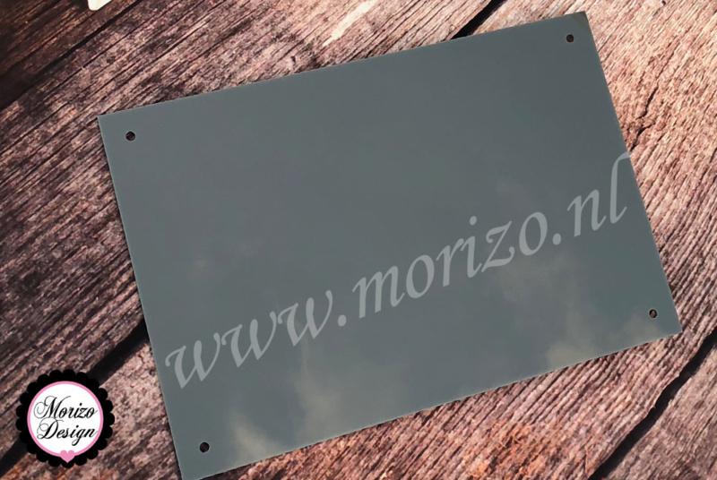 Plexiglas Grijs / Antraciet  15x15cm