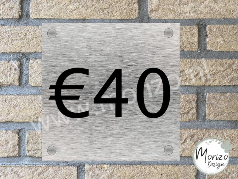 Naambordje €40