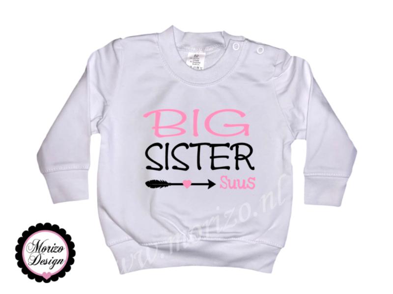 Sweater Big sister pijl *naam*