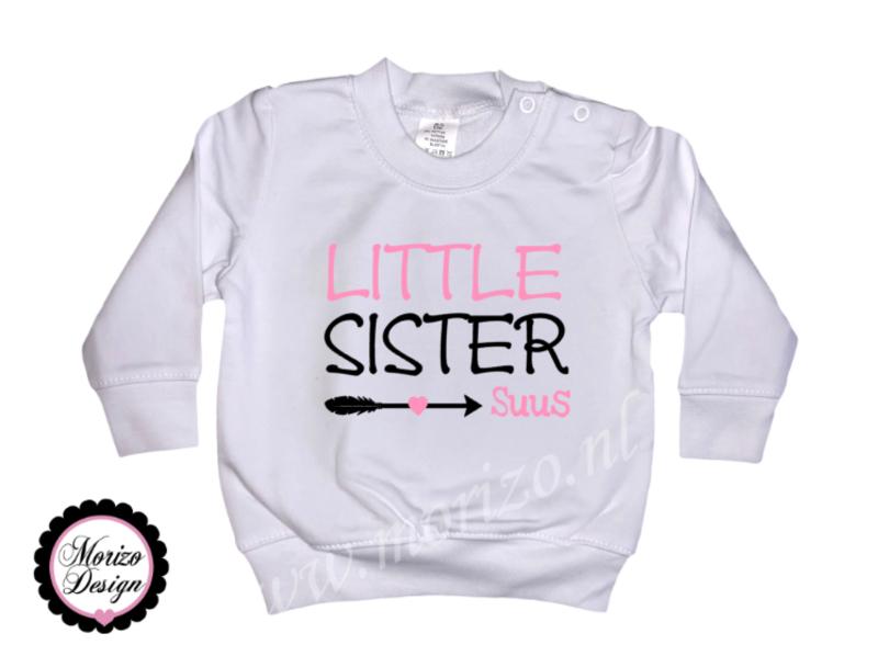 Sweater Little sister pijl *naam*