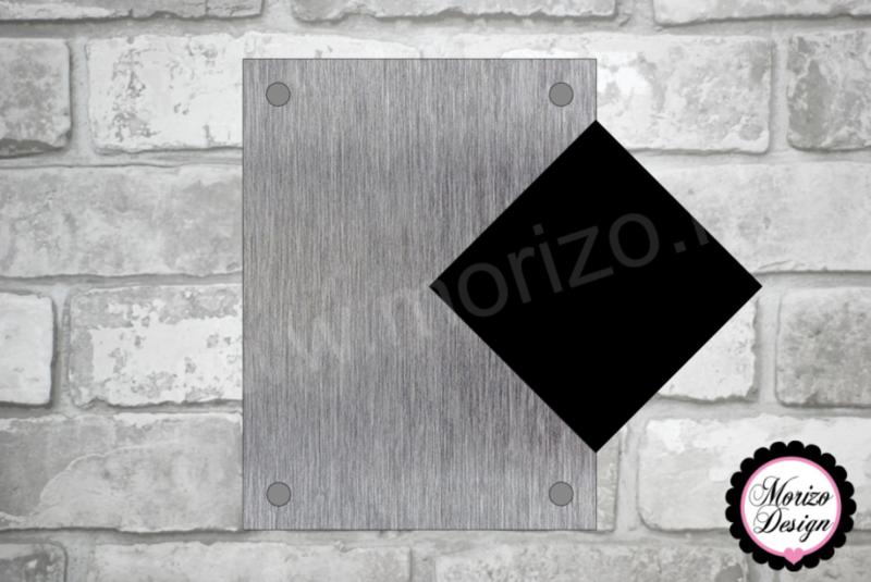 Blanco naambordje met los huisnummer 15cm x 20 cm