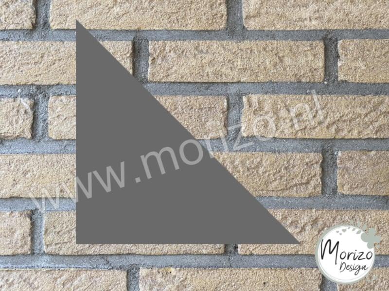 Plexiglas grijs driehoek 20x20cm