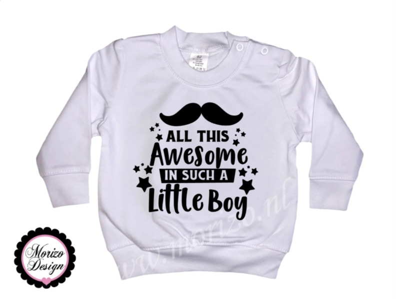 All this awesome in such a little boy