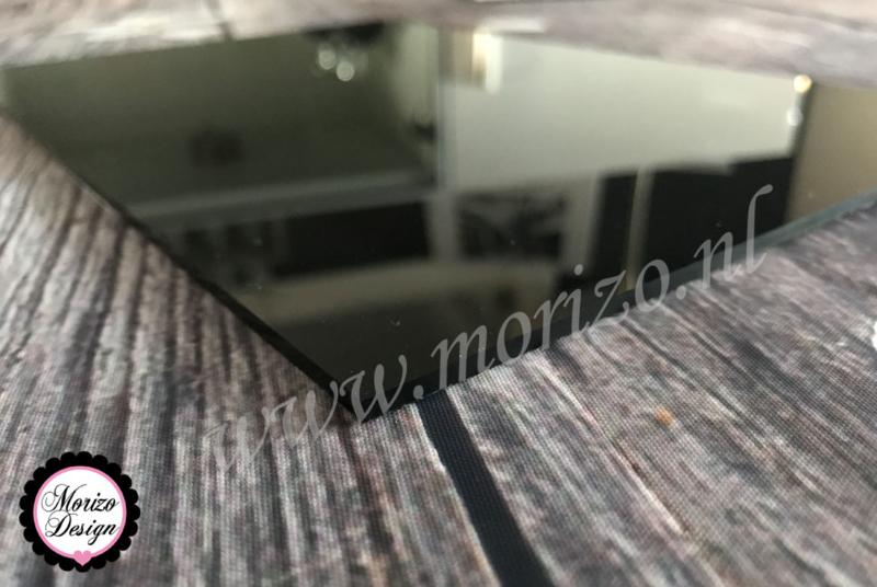 Plexiglas zwart 20x20cm