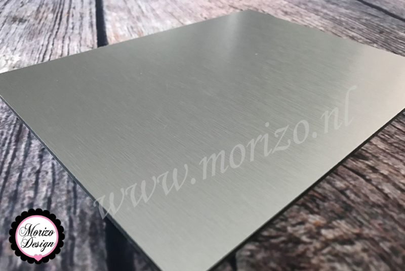 Dibond RVS-look 15x20cm