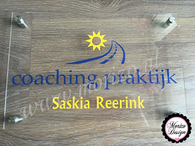 Bedrijfsnaambordje Saskia coachingspraktijk