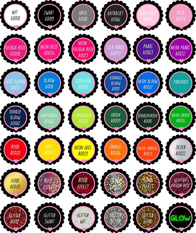 Flex kleuren kaart