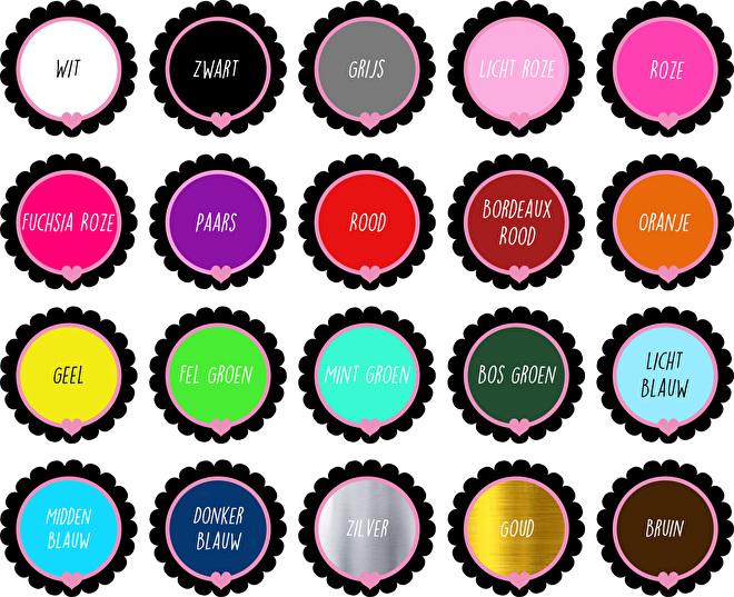kleuren voor de sticker