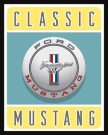 Wandbord metaal Classic Mustang Logo