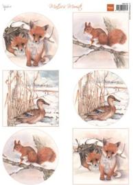 Eenden & Vossen, Mattie´s  Winter A4 knipvel