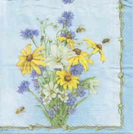 Bloemen mix & Bijen, servet