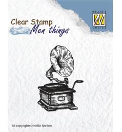 Gramophone, Men Things Clear Stamp