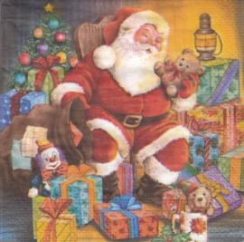 Santa in chair, servet