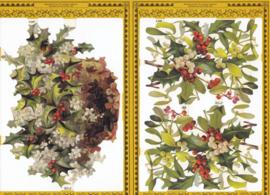 Kerst hulst, poëzieplaatje Golden serie
