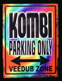 Wandbord metaal Kombi Parking Only