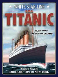 Wandbord metaal Titanic