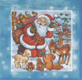 Santa with Animals, servet