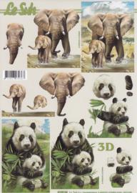 Olifant & Panda, 3D Knipvel Le Suh