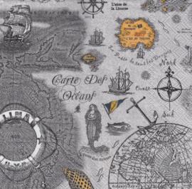 Carte des Oceans, servet