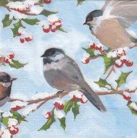 Chickadees & Holly, servet